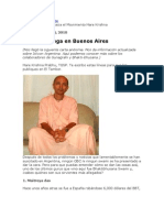 Sigue La Conga en Buenos Aires Bhakti Bhusana pero no Swami