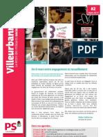 La Lettre des militants socialistes de Villeurbanne / Mars 2013