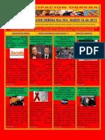 TITULARES BOLETÍN EMANCIPACIÓN OBRERA No 354. MARZO 16 DE 2013.