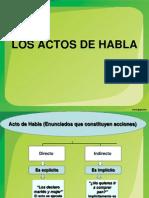LOS ACTOS DE HABLA - 1º MEDIO - PLAN COMÚN