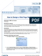 how to design a web page report output