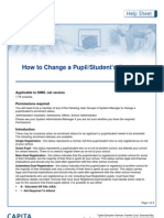 how to change a pupil students enrolment status