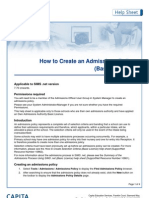 how to create an admissions policy - basic licence