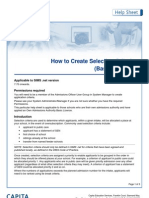 how to create selection criteria - basic licence