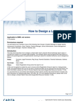 how to design a letter report