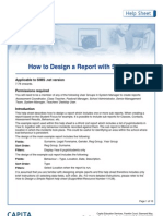 how to design a report with sub reports