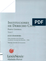 Instituciones de Derecho Civil Parte General TOMO I - Julio C Sar Rivera