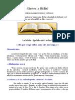 La Biblia - ¿Palabra del Señor? Parte 2
