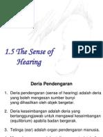 1.5 the Sense of Hearing