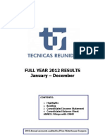 Full Year Report 2012