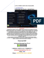 Advanced SystemCare Pro 6 SERIAL KEYS 2012