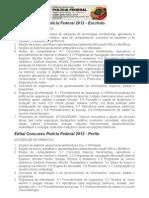 Edital Concurso Polícia Federal 2012