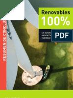 Resumen Renovables 100% - Greenpeace