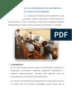 Importancia de La Informatica en La Educacion Primaria