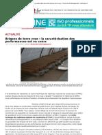 Briques de terre crue :la caractérisation des performances est en cour