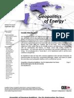 Quantum Buddhism - SEP 2012 - Geopolitcs of Energy/CERI