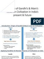 Critique of Gandhi's & marx's views on civilization