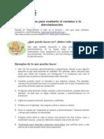 91 Formas Para Combatir El Racismo y Diiscriminacion