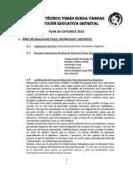 Trv Propuesta Definitivo Plan_de_estudios Ed Fisica Julio 2012