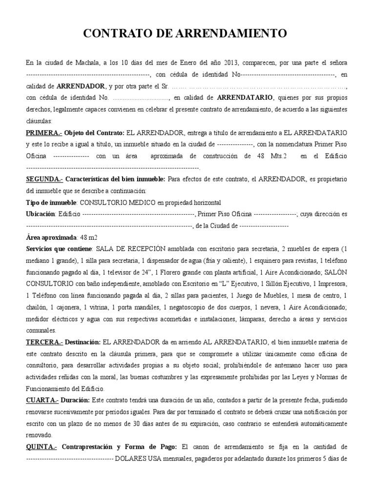 Perfecto Plantilla De Contrato De Subarrendamiento Gratis Ideas ...