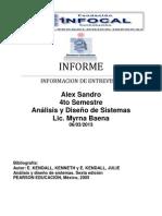 Informe de Analisis y Diseño de Sistemas