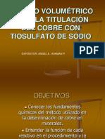 Metodo Volumetrico Para La Titulacion Del Cobre Con Tiosulfato de Sodio