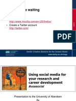 Using social media for your research and career development