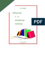 w r Daros Introduccion a La Epistemologia Popperiana