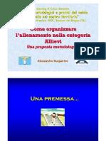 Come Oganizzare Allenamento Nella Categoria Allievi S.s Lazio