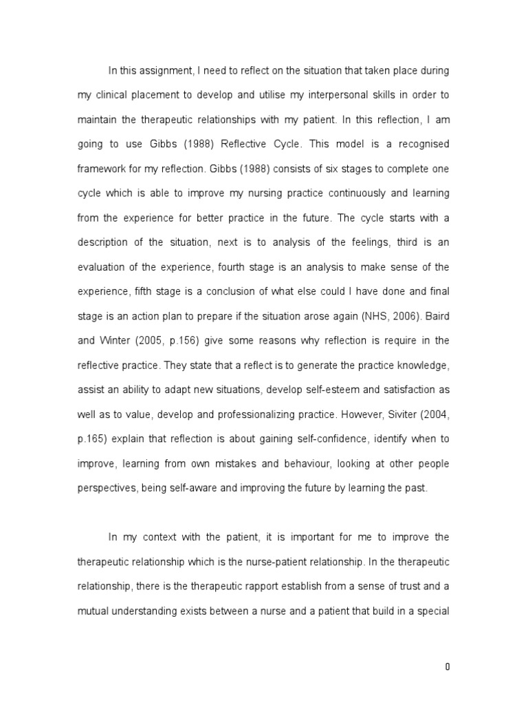 reflection essays in nursing reflective essay year communication patient