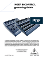 Behring B-Control Programming Guide