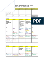 Calendario Pruebas (Ramos Primer Semestre y Anuales)