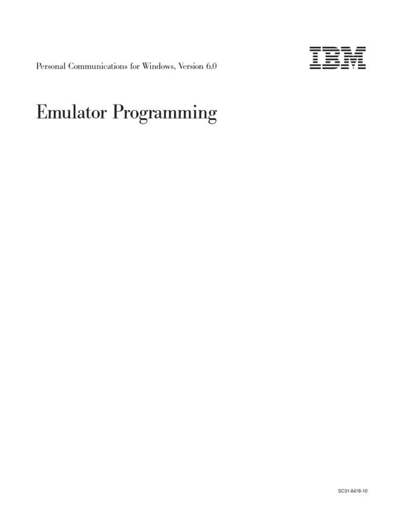 Emulator ProgrammingV60 | Application Programming Interface