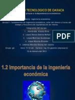 Exposicion de Ingenieria Economica