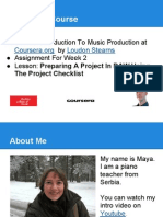 Maja DB - Week 2 Assignment - Lesson - Preparing a Project in DAW Using the Project Checklist