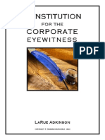 Constitution for Corporate Eyewitness