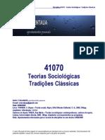 TeoriasSociológicasTradiçõesClássicas