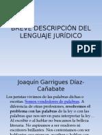 Breve DescripciÓn Del Lenguaje JurÍdico