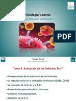 Tema 9. Activacion de Los Linfocitos B y T