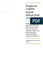 Ringkasan UAMBN Aqidah Akhlak MA 2013