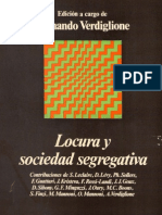 Locura y Sociedad Segregativa - Leclaire, Mannoni, Guattari Et Al.