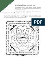 Une amulette kabbalistique contre le mal