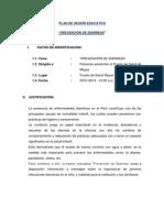 PLAN DE SESIÓN EDUCATIVA DIARREAS