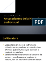 Antecedentes de La Narrativa Audiovisual