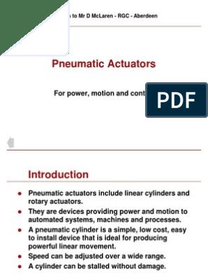 pneumatic actuator ppt   Actuator   Thrust