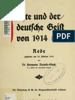 Fichte DerDeutscheGeist1914