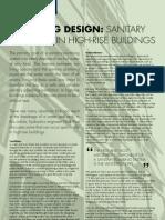Plumbing design in High RIse