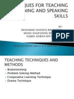 TECHNIQUES FOR TEACHING L