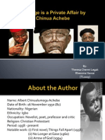 Marriage is a Private Affair by Chinua Achebe Criticism