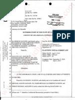 Plaintiff's Initial Exhibit List